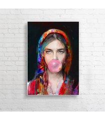 obraz na płótnie lady folk 3 100x70 pionowy