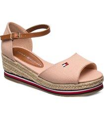 rope wedge sandal sandalette med klack espadrilles beige tommy hilfiger