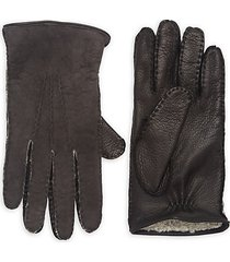 collection shearling-lined deerskin leather gloves