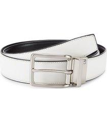 pga tour men's stretch faux leather belt - white - size 38