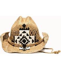 sparti cappello western croce messicana bianco nero