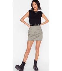womens camo around anytime utility mini skirt - khaki