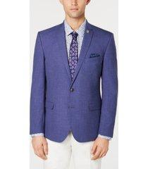 nick graham men's solid stretch slim-fit denim sport coat