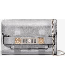 proenza schouler chain ps11 clutch 1112 silver one size