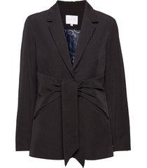 suit jacket w. tie detail blazer blauw coster copenhagen