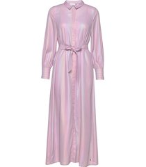 long dress w. volume sleeves maxi dress galajurk roze coster copenhagen