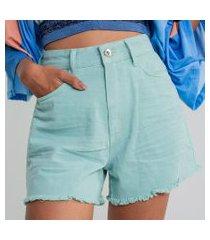 lez a lez - shorts jeans califórnia amassado verde new camping
