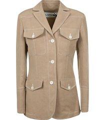 lanvin multi-pocket jacket