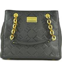 ermanno scervino black eco leather medium tote bag