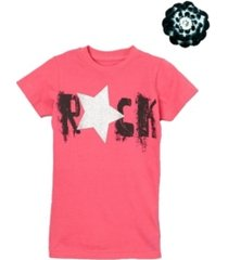 mi amore gigi big girls graphic top includes a matching hair accessory