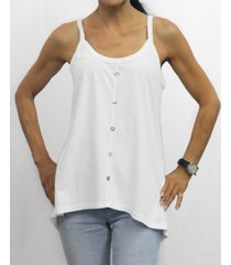 coin 1804 womens cotton button front cami tank