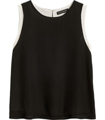 blusa layer top negro banana republic