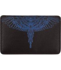 porta carte di credito portafoglio uomo pelle pictorial wings