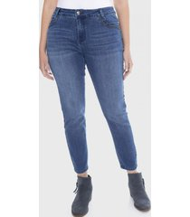 jeans aplicación bolsillo azul curvi