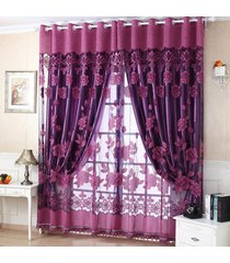 2-5m-1cm-luxury-flower-tulle-door-window-curtain-drape-panel-sheer-scarf-decor-v