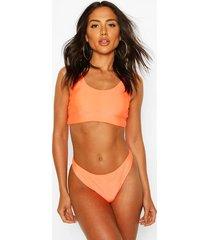 basic crop bikini, orange