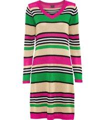 abito in maglia con lurex (fucsia) - rainbow