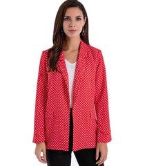 blazer lunares rojo/blanco nicopoly