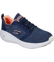 zapatos mujer  go run fast - motivation azul skechers