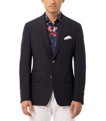 tallia orange men's slim-fit navy & white dot sport coat