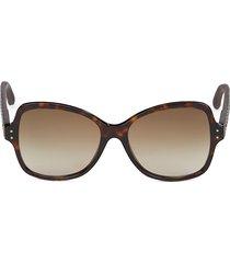 bottega veneta women's faux tortoiseshell 56mm butterfly sunglasses - brown