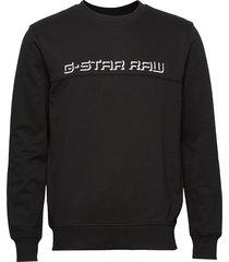 embro paneled gr r sw l\s sweat-shirt tröja svart g-star raw