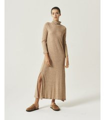 vestido marrón portsaid long gwen