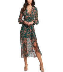 bardot floral-print maxi dress