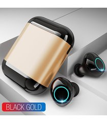 audifonos tws manos libres bluetooth con base de carga-dorado