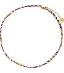 gas bijoux bellagio braided necklace - purple