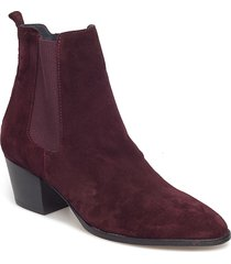 booties - block heel - with elas shoes boots ankle boots ankle boot - heel lila angulus