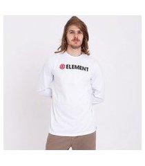 camiseta manga longa element blazin sous matelas masculina