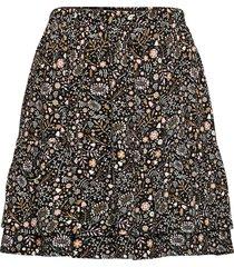 adler drapey print kort kjol gul arnie says