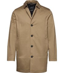 slhnew timeless coat b dunne lange jas bruin selected homme