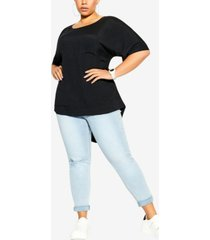 city chic trendy plus size easy weekend top