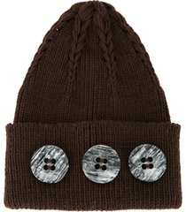 0711 gstaad beanie hat - brown