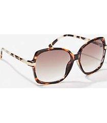 loft metallic trim square sunglasses