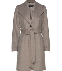 coats woven wollen jas lange jas grijs esprit collection