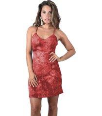 vestido corto berlin rojo maria paskaro