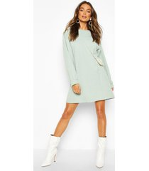 crew neck panel and pocket front dress, mint