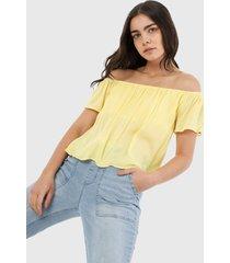 blusa amarillo forever 21