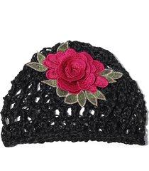 cappello flessibile flessibile di vogue beanie cap del ricamo del cotone vuoto di estate delle donne