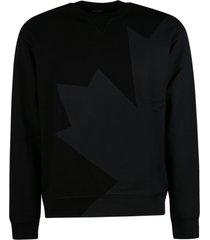 dsquared2 maple leaf logo print sweatshirt