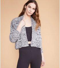 lou & grey ribtrim cropped cardigan