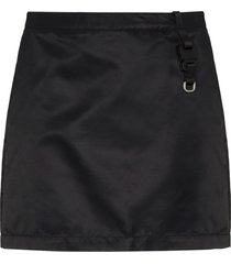 1017 alyx 9sm buckle strap detail mini skirt - black