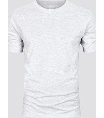 t-shirt i bomull - melerad grå