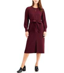 alfani long-sleeve tie-waist dress, created for macy's