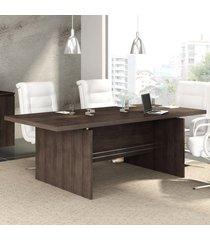 mesa de reunião office 2011 modelo 3200 com 220 cm carvalho - kappesberg