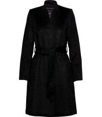 slfmella wool coat b noos wollen jas lange jas zwart selected femme