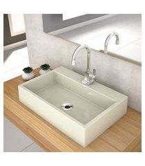 cuba de apoio p/banheiro compace florenza q550w retangular bege
